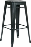OSP Designs Bristow 30'' Antique Backless Metal Barstools - 2-Pack - Antique Black Finish [BRW3030A2-AB-FS-OS]