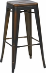 OSP Designs Bristow 30'' Backless Antique Metal Barstools - 2-Pack - Antique Copper Finish [BRW3030A2-AC-FS-OS]