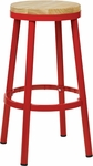 OSP Designs Bristow 30'' Metal Backless Barstool with Metal Legs - Red [BRW3230-9-FS-OS]