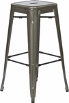 OSP Designs Bristow 30'' Backless Metal Barstools - 4-Pack - Gun Metal [BRW3030A4-GM-FS-OS]
