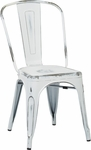 OSP Designs Bristow Stackable Armless Metal Chair - Set of 2 - Antique White [BRW29A2-AW-FS-OS]