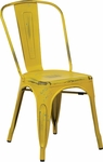 OSP Designs Bristow Stackable Armless Metal Chair - 2-Pack - Antique Yellow [BRW29A2-AY-FS-OS]