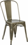 OSP Designs Bristow Stackable Armless Metal Chair - Set of 2 - Gunmetal [BRW29A2-GM-FS-OS]