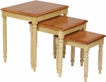 OSP Designs Country Cottage Wood 3-Piece Nesting Table Set [CC19-FS-OS]