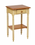 OSP Designs Country Cottage Wood Telephone Table with Drawer and Storage Shelf [CC04-FS-OS]