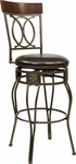 OSP Designs CSM25 30'' Cosmo Metal and Faux Leather Seat Swivel Barstool - Espresso [CSM2530-ES-FS-OS]