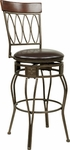 OSP Designs CSM26 24'' Cosmo Metal and Faux Leather Seat Swivel Barstool - Espresso [CSM2624-ES-FS-OS]