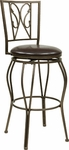 OSP Designs CSM27 24'' Cosmo Metal and Faux Leather Seat Swivel Barstool - Espresso [CSM2724-ES-FS-OS]