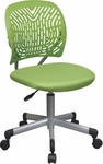 OSP Designs Designer Mesh Seat Computer Task Chair with Seat Height Adjustment and Casters - Green [166006-6-FS-OS]