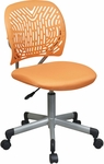 OSP Designs Designer Mesh Seat Computer Task Chair with Seat Height Adjustment and Casters - Orange [166006-18-FS-OS]