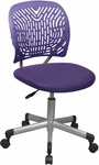 OSP Designs Designer Mesh Seat Computer Task Chair with Seat Height Adjustment and Casters - Purple [166006-512-FS-OS]