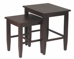 OSP Designs 2-Pc. Nesting Tables - Espresso [ES19-FS-OS]