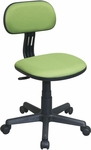 OSP Designs Armless Computer Task Chair with Seat Height Adjustment and Casters - Green [499-6-FS-OS]