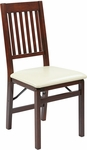 OSP Designs Hacienda ''Mission Back'' Folding Chair - Set of 2 - Cream [HA424-CM-OS]