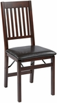 OSP Designs Hacienda ''Mission Back'' Folding Chair - Set of 2 - Espresso [HA424-ES-OS]