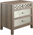 OSP Designs Helena 3 Drawer Cabinet - Greco Oak Finish [HLN26-GK-FS-OS]