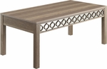 OSP Designs Helena Coffee Table With Mirror Accent Panel - Greco Oak [HLN12-GK-FS-OS]