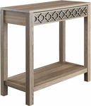 OSP Designs Helena Foyer Table with Mirror Panel - Greco Oak [HLN07-GK-FS-OS]