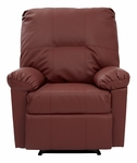 OSP Designs Kensington Eco Leather Recliner - Crimson Red [KNS54-RD-FS-OS]