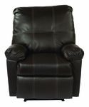 OSP Designs Kensington Eco Leather Recliner with Solid Wood Legs - Espresso [KNS54-ES-FS-OS]