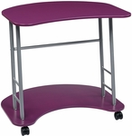 OSP Designs Kool Kolor Computer Desk with Casters - Purple [KK409-FS-OS]