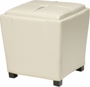 OSP Designs Metro 2-Piece Ottoman Set in Cream Eco Leather