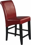 OSP Designs 24'' Eco Leather Metro Parsons Barstool - Red [MET8624RD-FS-OS]