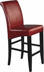 OSP Designs 30'' Eco Leather Metro Parsons Barstool - Red [MET8630RD-FS-OS]