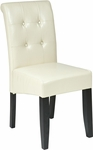 OSP Designs Metro Eco Leather Button Back Parsons Chair - Cream [MET88CM-FS-OS]