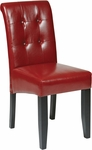 OSP Designs Metro Eco Leather Button Back Parsons Chair - Crimson Red [MET88RD-FS-OS]