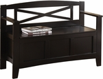 OSP Designs Metro Mission Style Entry Way Bench - Black [MET42-BK-FS-OS]