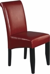 OSP Designs Eco Leather Metro Parsons Dining Chair - Crimson Red [MET86RD-FS-OS]