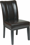 OSP Designs Metro Eco Leather Pleated Back Parsons Chair - Espresso [MET89ES-FS-OS]