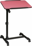 OSP Designs Loften Mobile Laptop Cart with Adjustable Top - Pink [LT733-261-FS-OS]