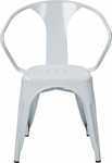 OSP Designs Patterson 30'' Metal Chair - Set of 2 - White [PTR2830A2-11-FS-OS]