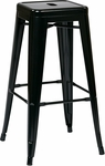 OSP Designs Patterson 30'' Steel Backless Barstool - Set of 2 - Black [PTR3030A2-3-FS-OS]