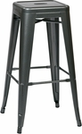 OSP Designs Patterson 30'' Steel Backless Barstool - Set of 2 - Exposed Grey [PTR3030A2-22-FS-OS]