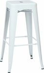 OSP Designs Patterson 30'' Steel Backless Barstool - Set of 2 - White [PTR3030A2-11-FS-OS]