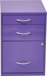 OSP Designs 3-Drawer Storage Cabinet with Locking Filing Drawer - Purple [HPBF512-FS-OS]