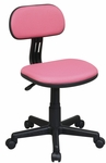 OSP Designs Armless Computer Task Chair with Seat Height Adjustment and Casters - Pink [499-261-FS-OS]