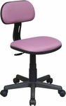 OSP Designs Armless Computer Task Chair with Seat Height Adjustment and Casters - Purple [499-512-FS-OS]