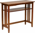 OSP Designs 36'' Sierra Wood Mission Style Foyer Table - Ash [SRA07-AH-FS-OS]