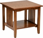 OSP Designs Sierra Wood Mission Style End Table - Ash [SRA09-AH-FS-OS]