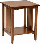 OSP Designs Sierra Wood Mission Style Side Table - Ash [SRA08-AH-FS-OS]