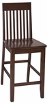 OSP Designs Westbrook Slat Back Barstool with Contoured Seat - Set of 2 - Espresso [WB424-FS-OS]