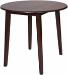 OSP Designs Westbrook Drop Leaf Pub Table with Tapered Legs - Espresso [WB432-FS-OS]