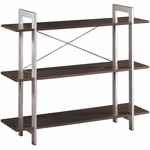 OSP Designs 41''H X-Text 3 Tier Bookshelf - Espresso [XT27-FS-OS]