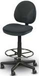 OSS 20'' W x 24'' D x 36'' H Adjustable Height Shell Mid Back Task Chair with Foot Ring - Ebony [OSS400-DSK500-FS-EURO]