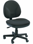 OSS 20'' W x 24'' D x 36'' H Adjustable Height Shell Mid Back Task Chair - Ebony [OSS400-H06-FS-EURO]