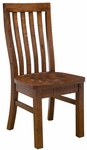Outback Wood 19''H Dining Chair with Vertical Slat Back - Set of 2 - Distressed Chestnut [4321-804KD-FS-HILL]